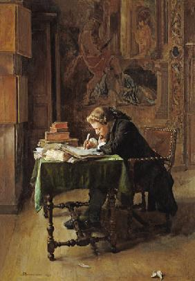 Young Man Writing