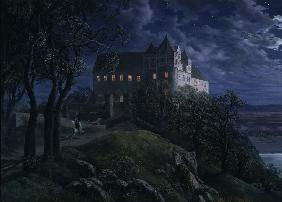 Castle Scharfenberg at Night