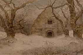 Oehme, Ernst Ferdinand : The chapel in the snow