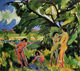 Kirchner, Ernst Ludwig : Playing naked people