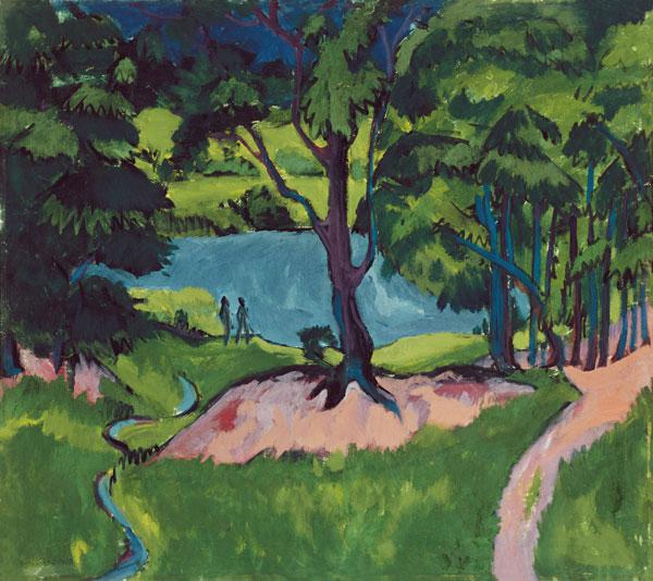 Kirchner, Ernst Ludwig : Sea in the B�hmerwald.