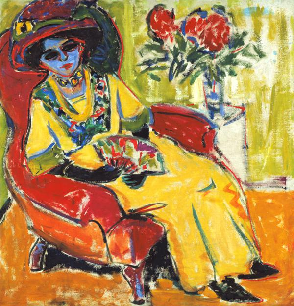 Kirchner, Ernst Ludwig : Sedentary lady