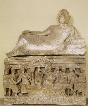 Cinerary urn (alabaster)