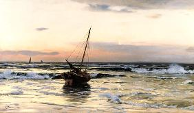 Sundown by the sea 1878