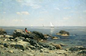 D�cker, Eugen : On the rock beach.