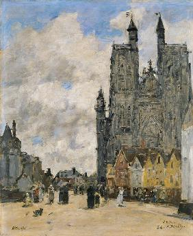 Boudin, Eug�ne : The Square of the Church o...