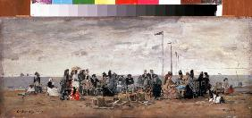 Boudin, Eug�ne : The Beach at Trouville