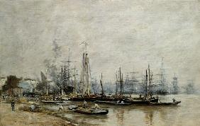 Boudin, Eug�ne : In the port of Bordeaux.
