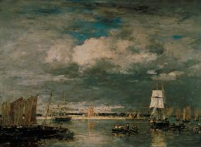 Boudin, Eug�ne : Storm at the Port of Camar...