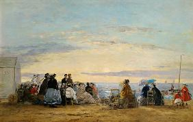 Boudin, Eug�ne : Watching the sunset from t...