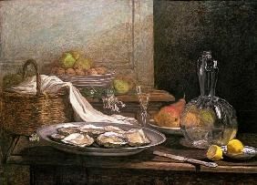 Boudin, Eug�ne : Still Life with Oysters