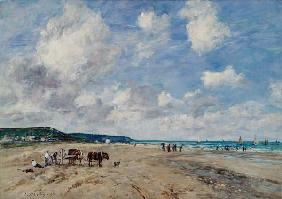 Boudin, Eug�ne : The Beach at Tourgeville