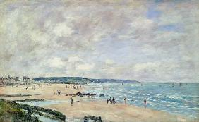 Boudin, Eug�ne : Beach at Trouville