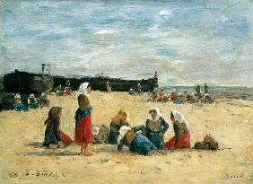 Boudin, Eug�ne : Berck, Fisherwomen on the ...