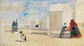 Boudin, Eug�ne : By the Bathing Machines