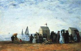 Boudin, Eug�ne : The beach of Trouville