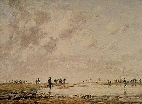 Boudin, Eug�ne : At low tide in Etaples.