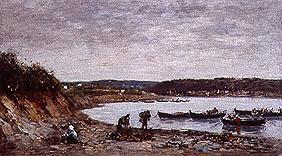 Fisherman on the beach at Brest.