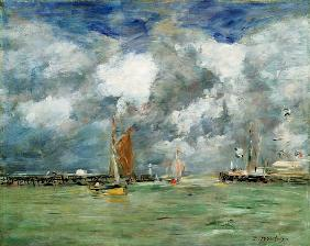 Boudin, Eug�ne : High Tide at Trouville