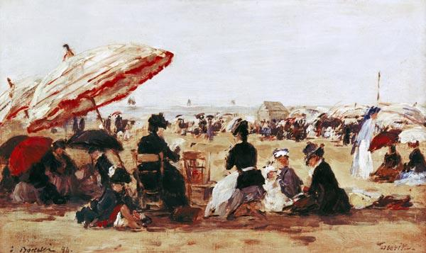 Boudin, Eug�ne : The Beach (La Plage)