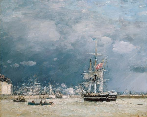 Boudin, Eug�ne : Evening, Le Havre