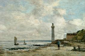 Boudin, Eug�ne : Lighthouse at Honfleur