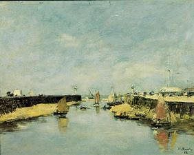 Boudin, Eug�ne : The moles of Trouville