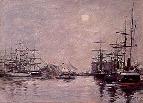 Boudin, Eug�ne : Fog day in the port of Le ...