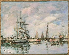 Boudin, Eug�ne : Norwegian three mast ship ...