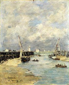 Boudin, Eug�ne : Low Tide at Trouville