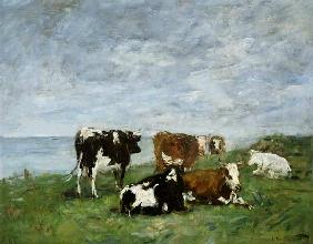 Boudin, Eug�ne : Pasture at the Seaside