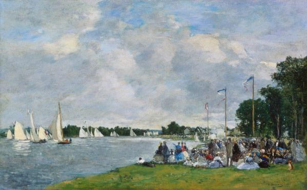Boudin, Eug�ne : Regatta at Argenteuil
