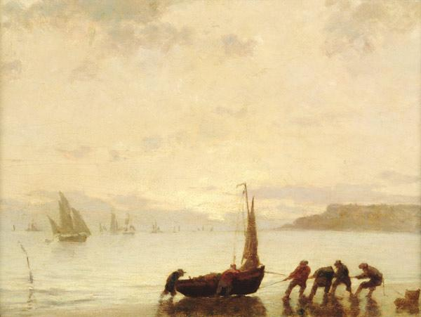 Boudin, Eug�ne : Return from Fishing with S...