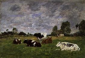Boudin, Eug�ne : Cattles on the pasture