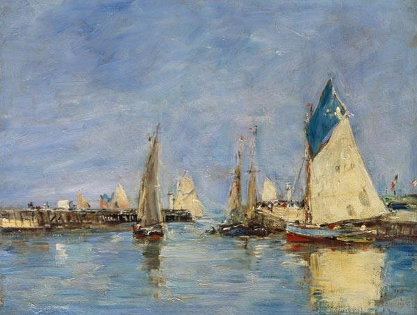 Boudin, Eug�ne : Sailing boats in the port ...