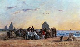 Boudin, Eug�ne : Beach Scene at Trouville -...