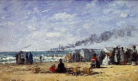 Boudin, Eug�ne : Beach life in Trouville