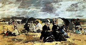 Boudin, Eug�ne : Beach scene in Trouville