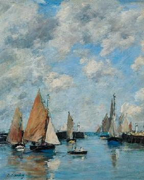 Boudin, Eug�ne : The Jetty at High Tide, Tr...