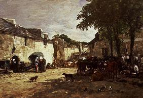 Boudin, Eug�ne : On the livestock market in...