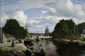 Boudin, Eug�ne : The Port at Quimper