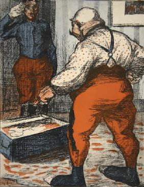A civil servant overseeing the arrangement of his underwear, illustration from ''L''assiette au Beur