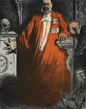 A judge in full garments, illustration from ''L''assiette au Beurre: Les Fonctionnaires'', 9th Augus