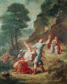 Orpheus and Eurydice, Spring from a series of the Four Seasons