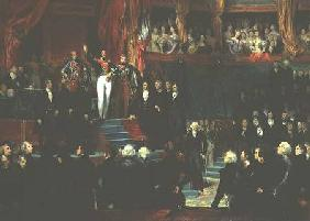 Louis-Philippe (1773-1850) is sworn in as king before the Chamber of Deputies