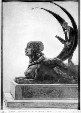 Sphinx, illustration from ''Les Diaboliques'' Jules Amedee Barbey d''Aurevilly (1808-89) 1874