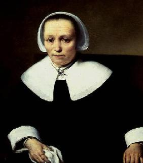 Portrait of a Lady with White Collar and Cuffs