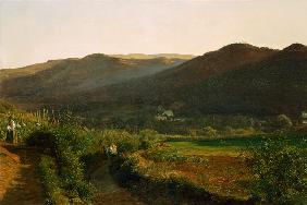 Waldm�ller, Ferdinand Georg : Landscape with vineyards
