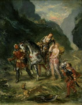 Delacroix, Ferdinand Victor Eug�ne : Angelica and the wounded M...