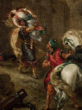 Delacroix, Ferdinand Victor Eug�ne : The Rape of Rebecca